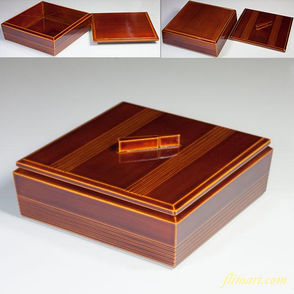 春慶塗蓋付重箱W5338