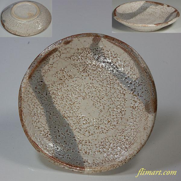志野小皿W5339