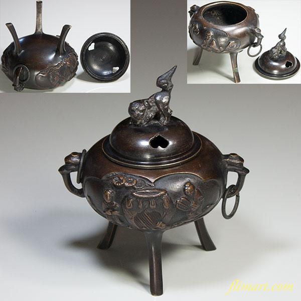 鋳銅香炉W5340
