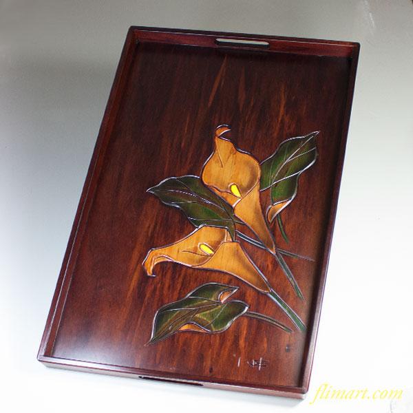 木製長手盆W5380