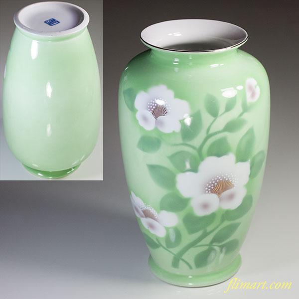 若山緑彩鉄仙花花瓶