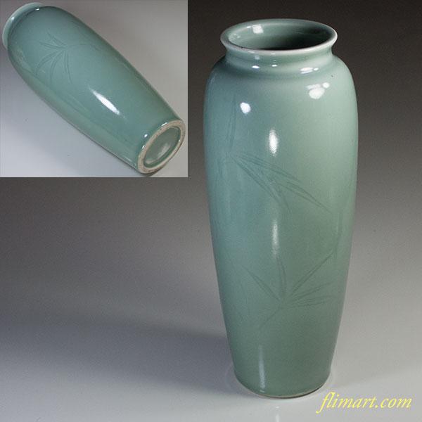 青磁花瓶W5396
