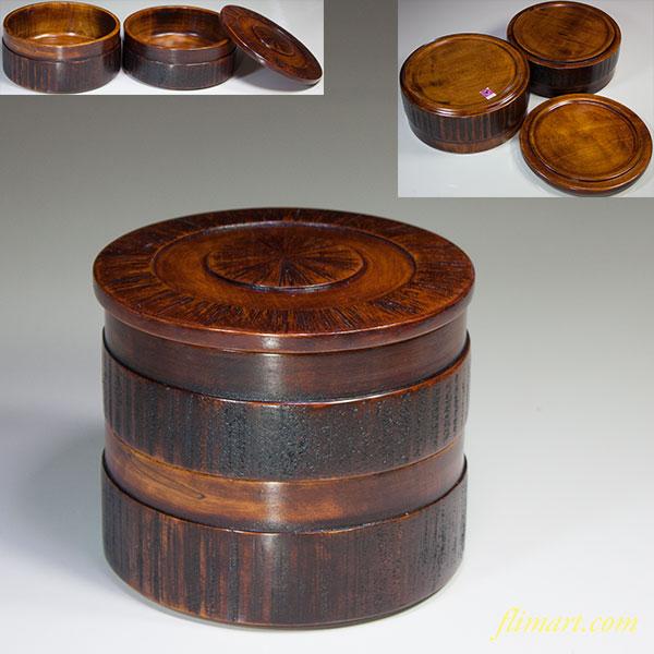木製二段重W5373