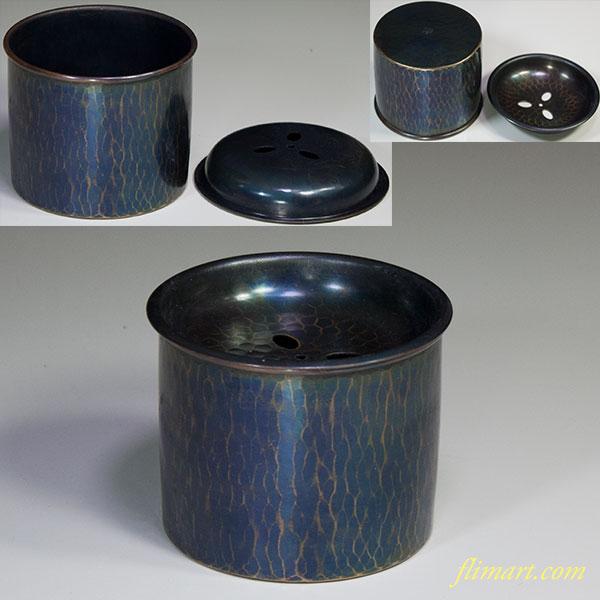 玉川堂鎚起銅器建水