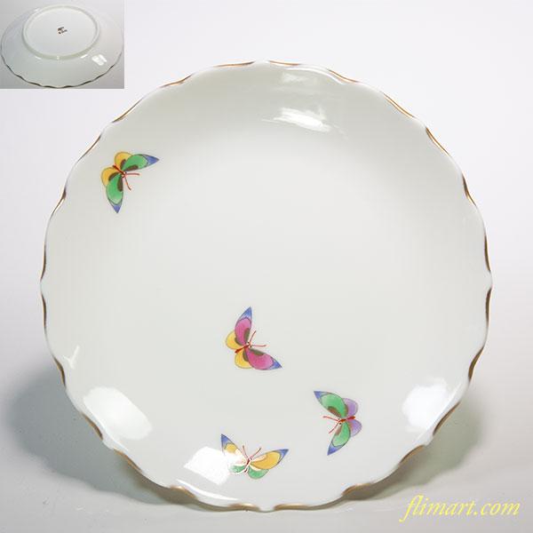 香蘭社蝶小皿W5455