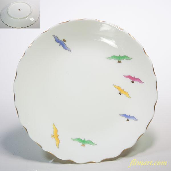 香蘭社鳥小皿W5429