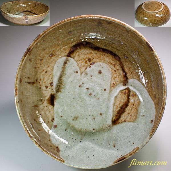 月白窯林恭助美濃伊賀八寸鉢