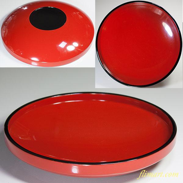 木製漆器朱塗菓子盆