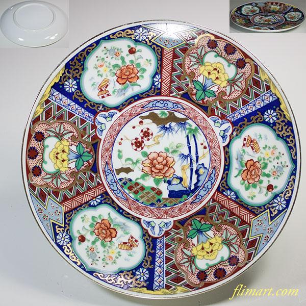 色絵七寸飾皿W5438