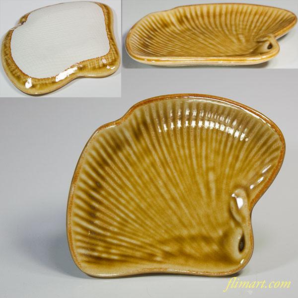 銀杏葉型小皿W5474