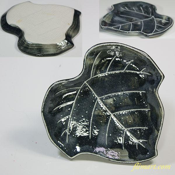 葉型小皿W5457