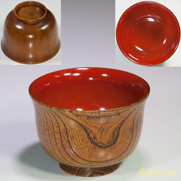 木製漆器欅朱塗汁椀
