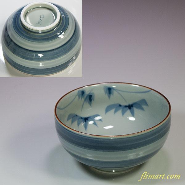 有田焼風の木窯飯茶碗W5547