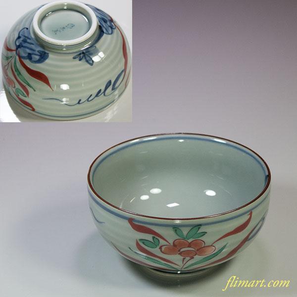 有田焼風の木窯飯茶碗W5530