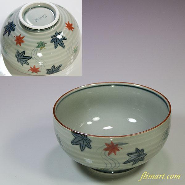 有田焼風の木窯飯茶碗W5479
