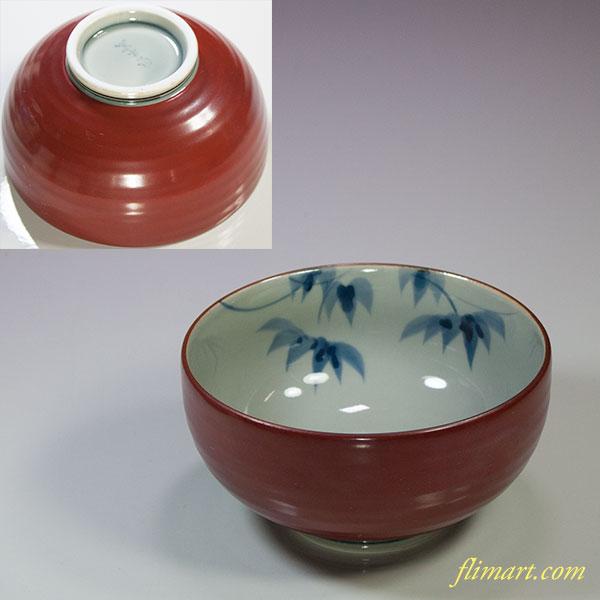 有田焼風の木窯飯茶碗W5471