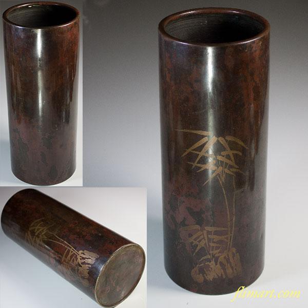 銅器花瓶W5612