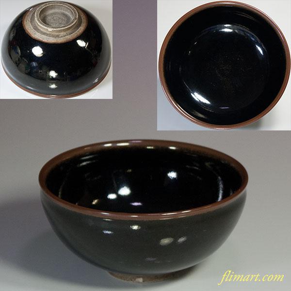 飴釉抹茶碗W5489