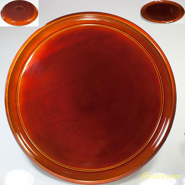 春慶塗一尺丸盆W5495