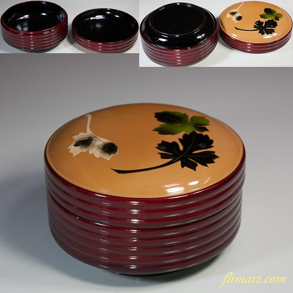 木製漆器菓子器W5519