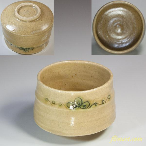 黄瀬戸抹茶碗W5516
