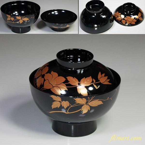 会津塗吸物椀W5621