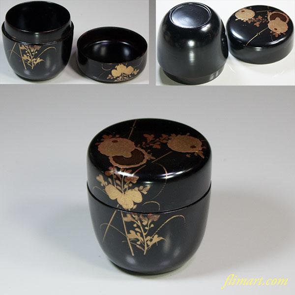木製漆器金蒔絵棗W5607