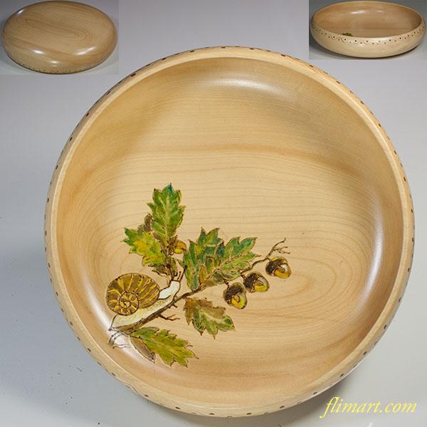 木製菓子器W5622