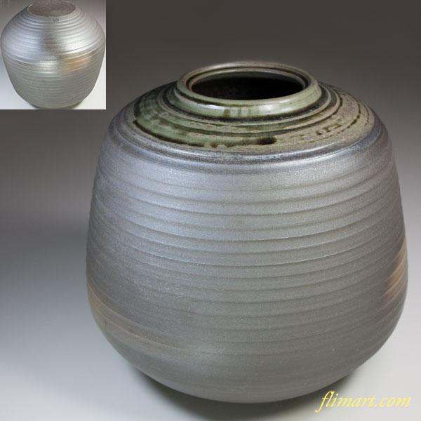 越前焼幡山窯花瓶