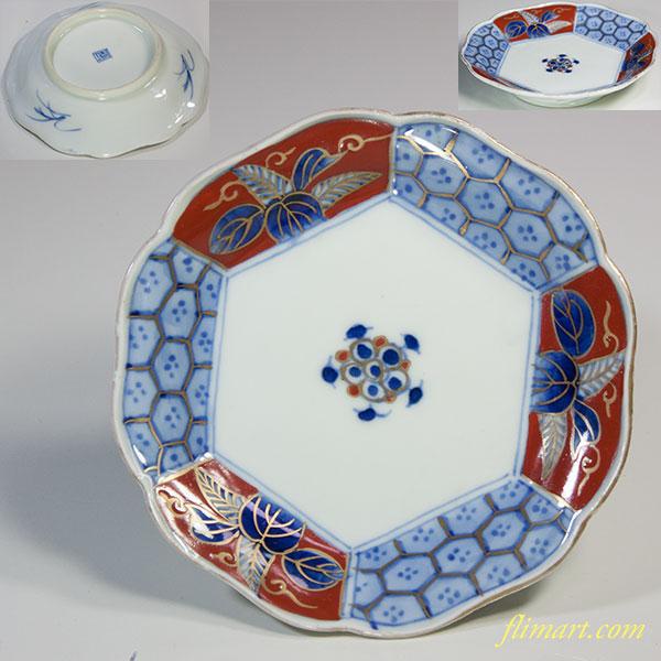 亀甲桐小皿