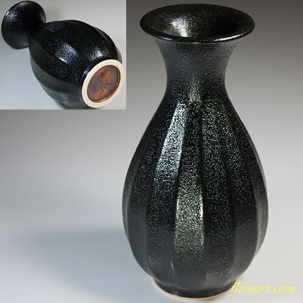 杉浦芳樹柚子黒線彫花瓶