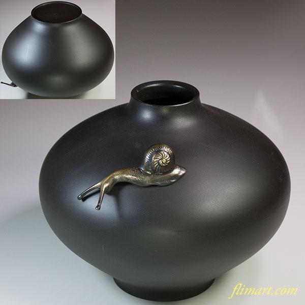 瑞峰銅器花瓶カタツムリ