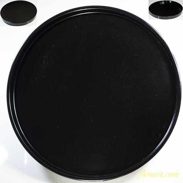 黒塗漆器丸盆W5781