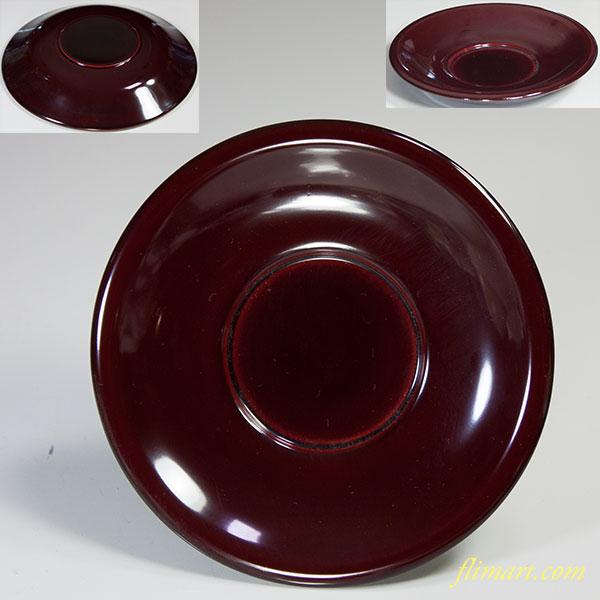 会津塗木製漆器溜塗茶托