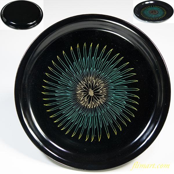 木製漆器黒塗銘々皿