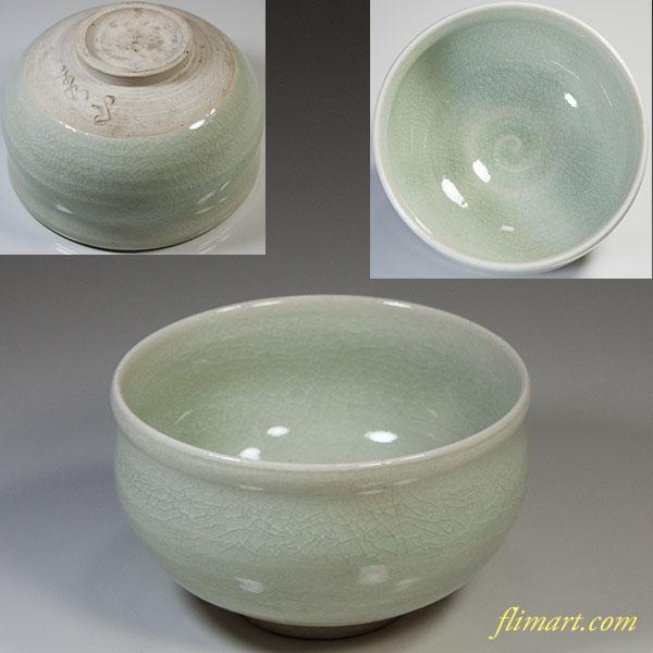 青磁抹茶碗W6089