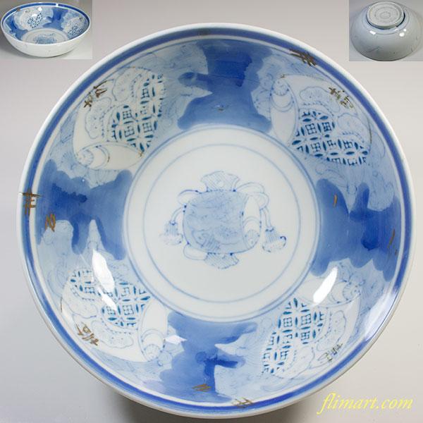 染付七寸鉢W5809