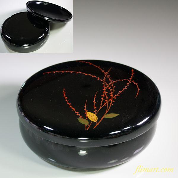 高岡漆器木製蓋付菓子鉢