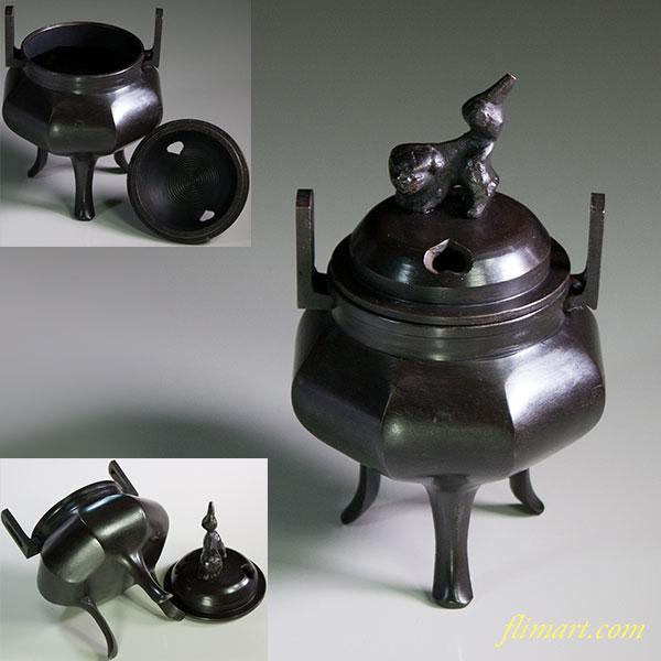 鋳銅香炉W5841