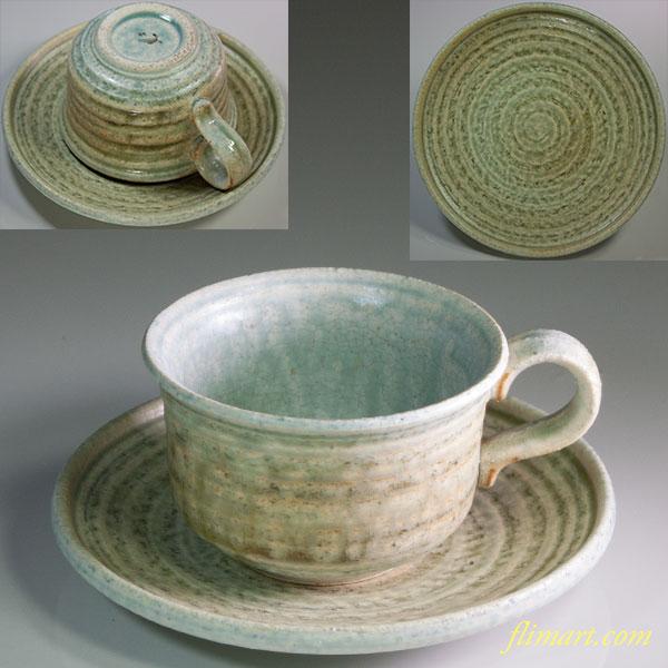 青磁碗皿W5914