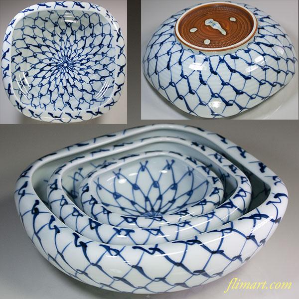 和峰三つ組網目鉢