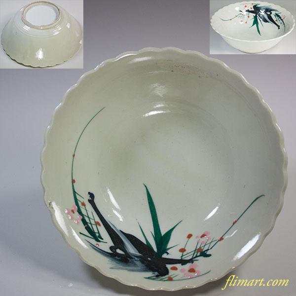 梅柄六寸鉢W5964