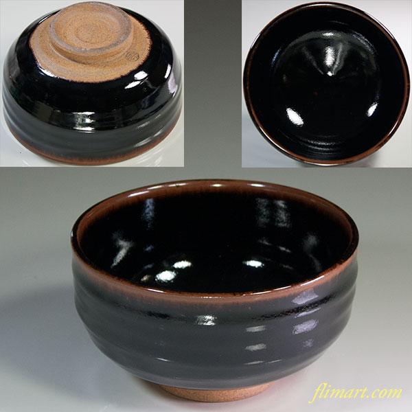 飴釉抹茶碗W6045
