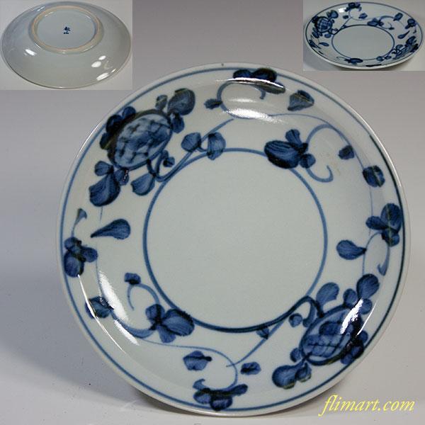 敏山窯染付小皿W6009