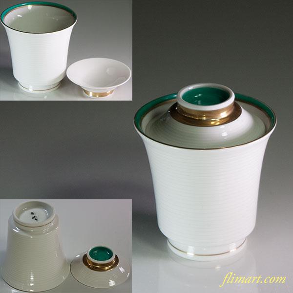 蓋付蒸茶碗W6066