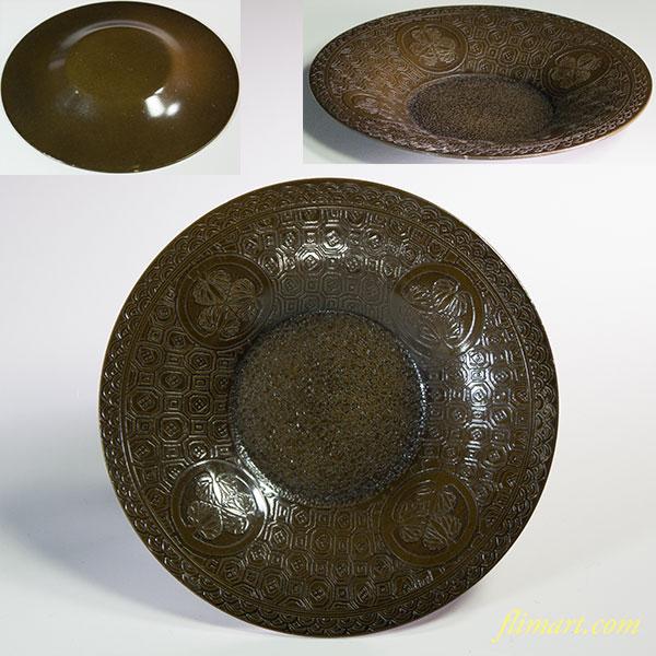 勝彦作鋳銅三葉葵紋茶托