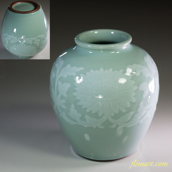 平安洛堂青磁花瓶