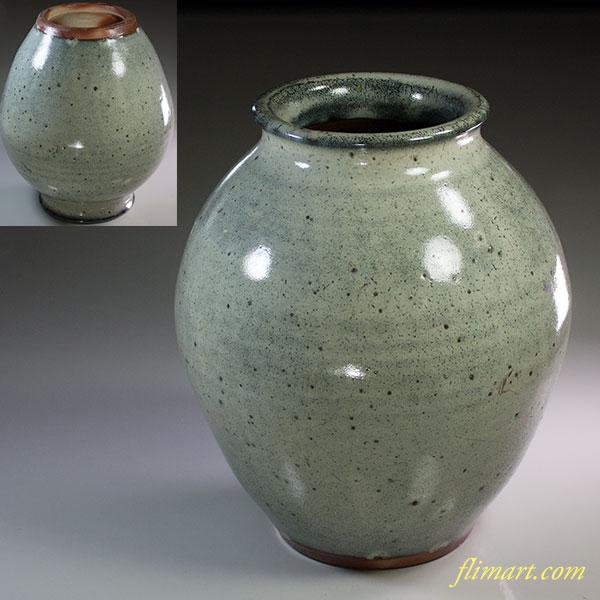 灰釉花瓶W6094