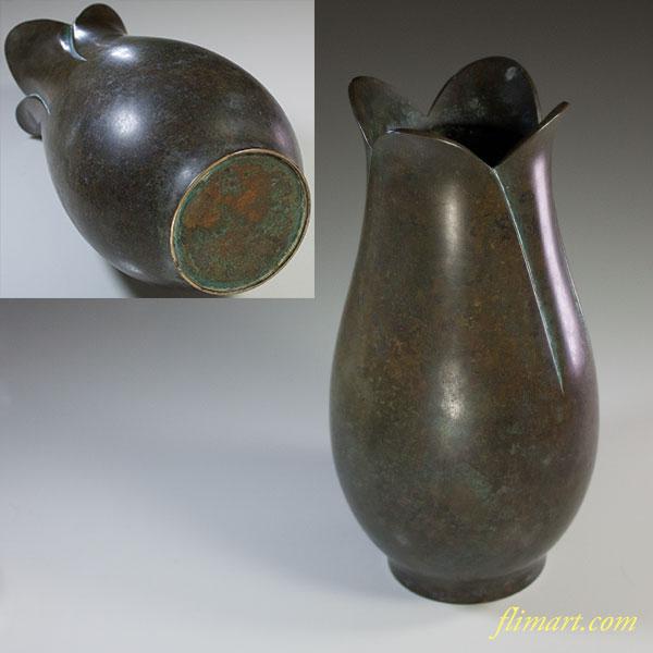 真鍮花瓶W6448