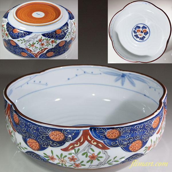 白峰色絵八寸大盛鉢